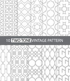 Two tone vintage style. Illustration of two tone vintage style seamless pattern Vector Illustration