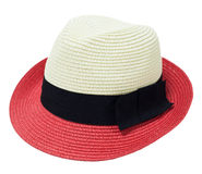 Two tone woman hat. On white background Stock Photo