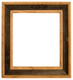 Two-tone wooden frame Stock Photos