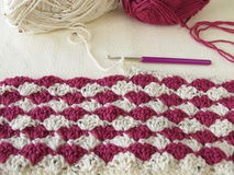Two-toned crocheted shells Stock Photography