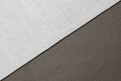 Two Tones Brown Texture on Concrete Wall, Triangle Shape. Closeup Royalty Free Stock Photo