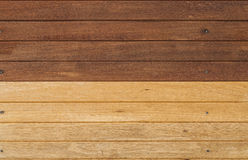 Two tones wood wall Royalty Free Stock Photos
