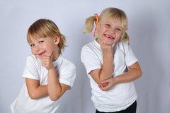 Two tooghless girls Royalty Free Stock Photography