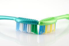 Two tooth-brushes Royalty Free Stock Photo
