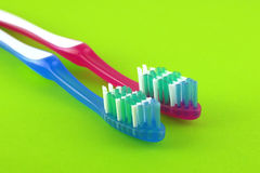 Two tooth-brushes Stock Images