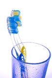 Two toothbrush in a glass Royalty Free Stock Photography