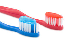 Two toothbrushes Stock Image