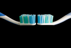 Two toothbrushes. Royalty Free Stock Photos