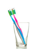 Two toothbrushes Stock Photos