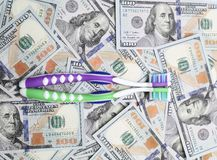 Two toothbrushes Stock Images