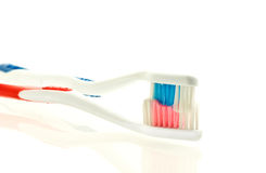 Two toothbrushes for couple Royalty Free Stock Photo