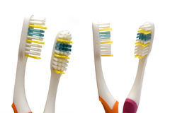 Two toothbrushes Royalty Free Stock Photography