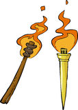 Two torch. On a white background vector Royalty Free Stock Photos