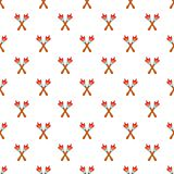 Two torches pattern, cartoon style. Two torches pattern. Cartoon illustration of two torches vector pattern for web Royalty Free Stock Photo