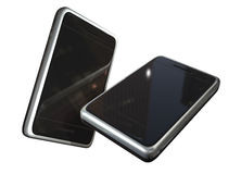 Two touch screen phones Royalty Free Stock Images