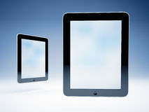 Two touchscreen tablets Royalty Free Stock Photo