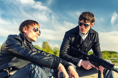 Two tough guys Royalty Free Stock Image