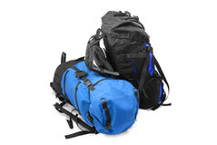 Two tourist backpacks Stock Images