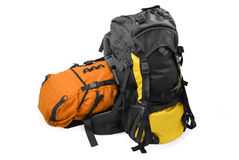 Two tourist backpacks Stock Photos