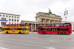 Two tourist double decker buses in Berlin Stock Image