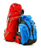 Two touristic backpacks on white Stock Images
