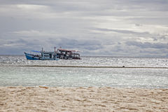 Two touristic ship is floating in the sea. Two touristic ship is floating in the sea, Thailand Royalty Free Stock Photography