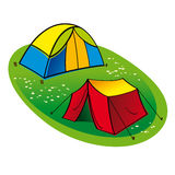 Two touristic Tents Royalty Free Stock Image