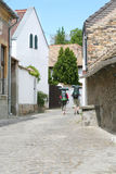 Two tourists on the street. In Szentendre, Hungary Royalty Free Stock Images