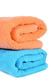Two towel isolated on white background Stock Photos