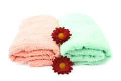 Two towels Stock Photo