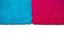 Two towels blue and pink Stock Photos