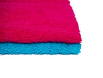 Two towels blue and pink Stock Photo