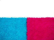 Two towels blue and pink Royalty Free Stock Photo