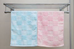 Two towels and shelf Royalty Free Stock Photo