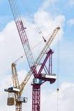 Two  Tower Crane Stock Photos