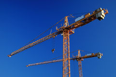 Tower cranes Stock Photography