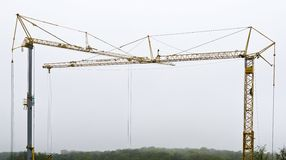 Two tower cranes Royalty Free Stock Photography