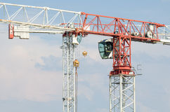 Two Tower Cranes Stock Photo