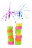 Two tower from sweet candy Royalty Free Stock Photography
