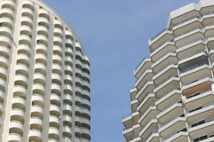 Two tower two concept. On the beach Royalty Free Stock Photo