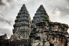 Two Towers Of Angkor Wat Stock Images