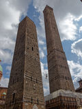 Two towers of Bologna Stock Photos
