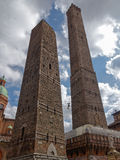 Two towers of Bologna Stock Image