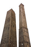 Two towers. Bologna, Italy. Asinelli tower and Garisenda leaning tower. Bologna, Italy Stock Image