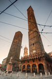 Two Towers of Bologna, Italy. Royalty Free Stock Photos