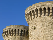 Two towers of a castle Royalty Free Stock Images