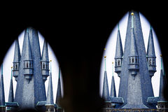 Two towers closer Royalty Free Stock Photos