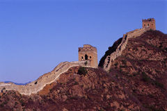 Two towers of the great wall Royalty Free Stock Images