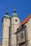 Two towers of the historical building of the Steinfurt Universit Stock Photos