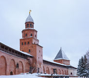 Two towers of the Kremlin royalty free stock photo